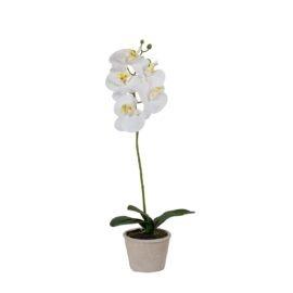 Orchidée artificielle en pot