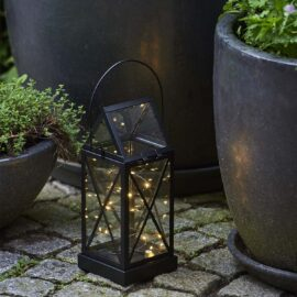 Lanterne Aske Noir H 32 cm