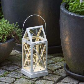 Lanterne Aske Blanche H 32 cm
