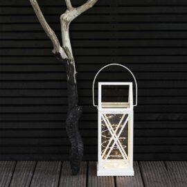Lanterne Aske Blanche H 50 cm
