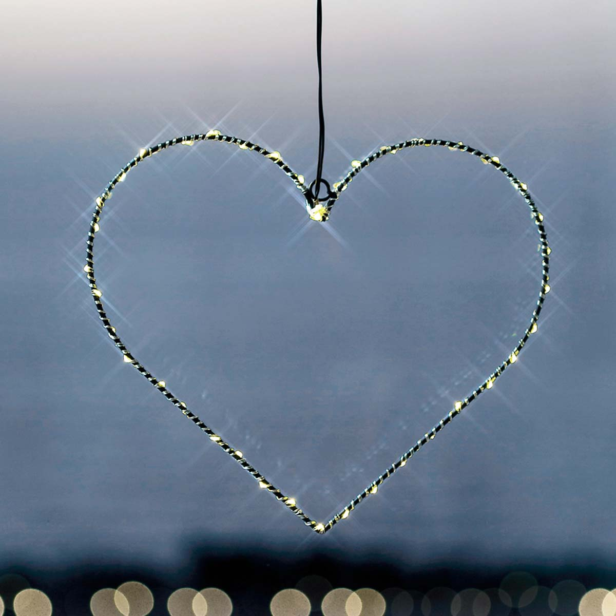 Guirlande cœur lumineux