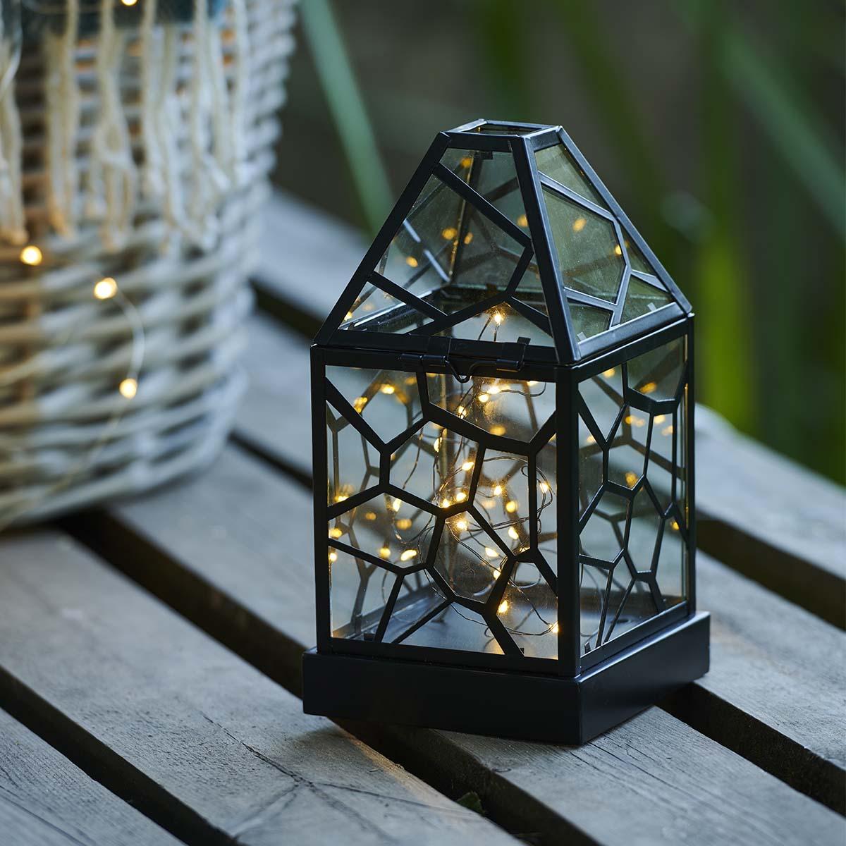 Lanterne Alfred Noir H23cm
