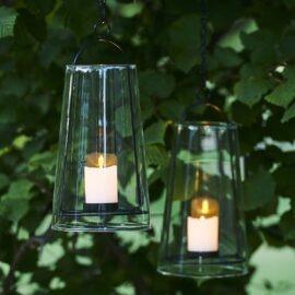 Lanterne suspendue Albert H31cm noir
