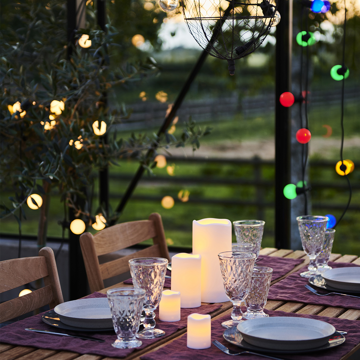 Rallonge guirlande lumineuse Lucas 10 LED ampoules verres clairs