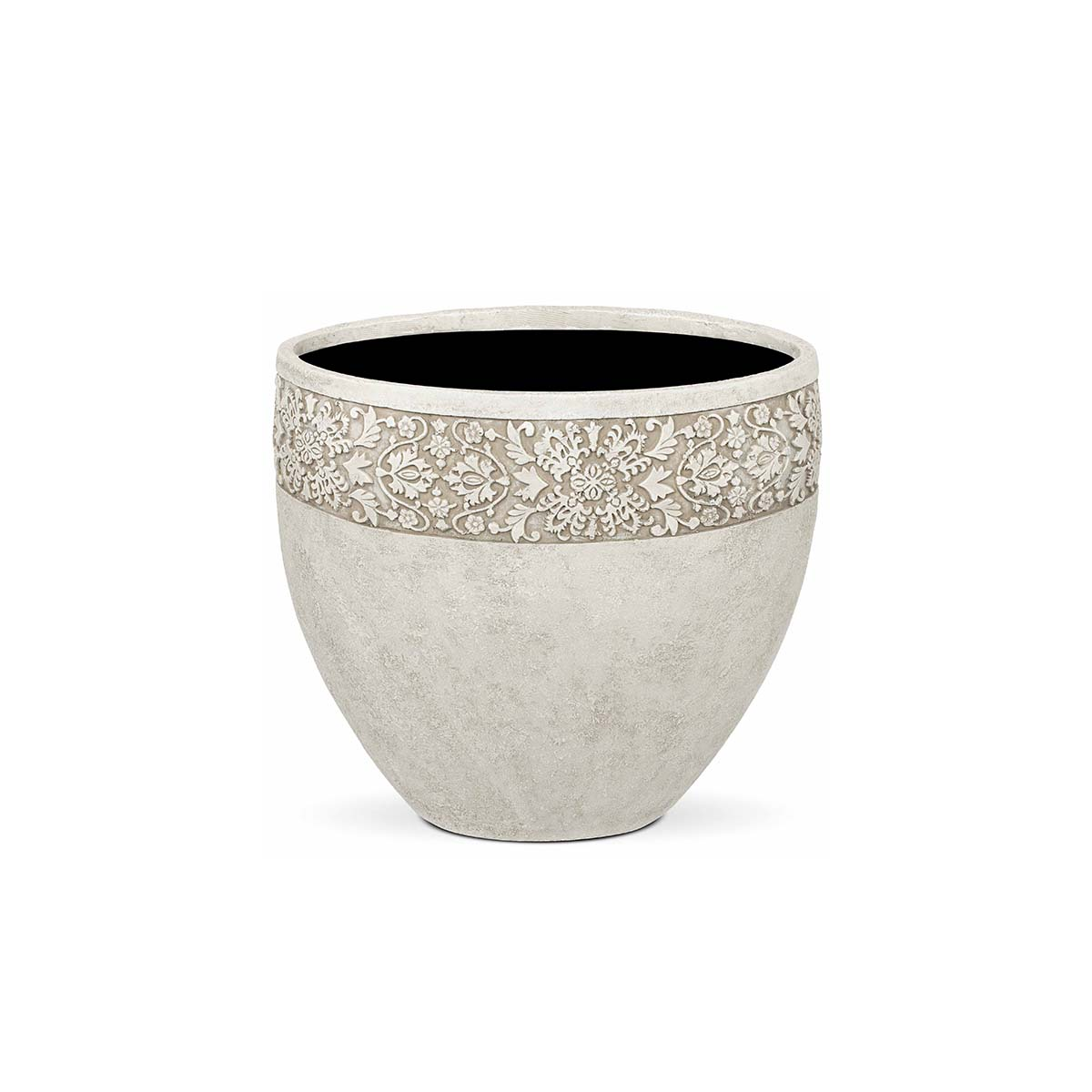 Pot rond avec dessin ivoire