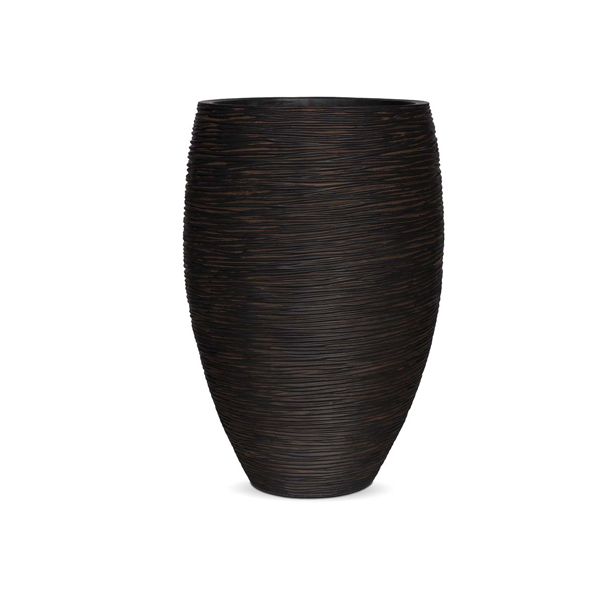 Pot elegant strié marron