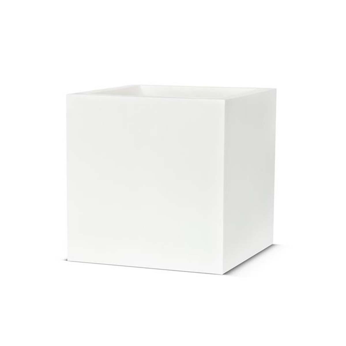 pot carré blanc