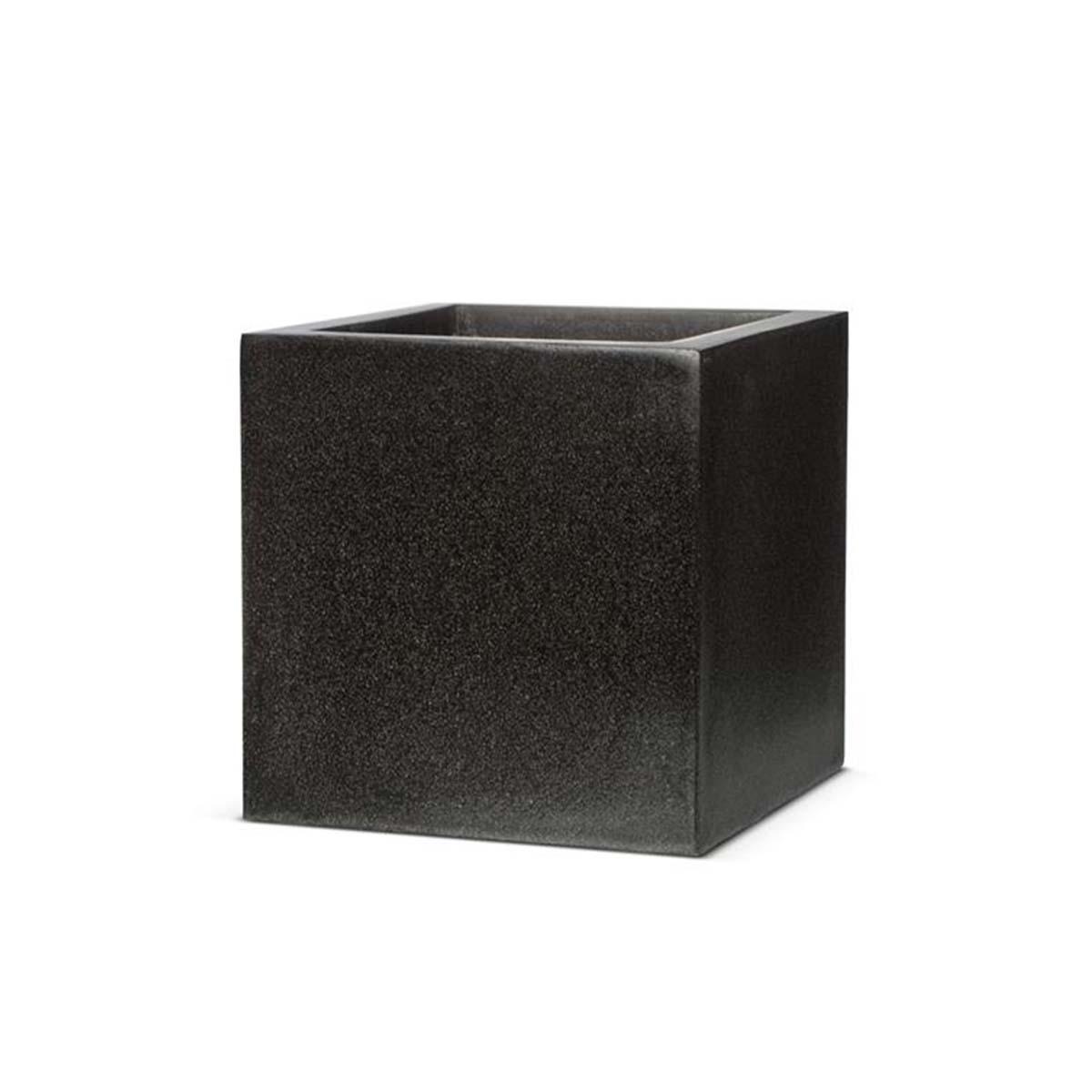 pot carré noir