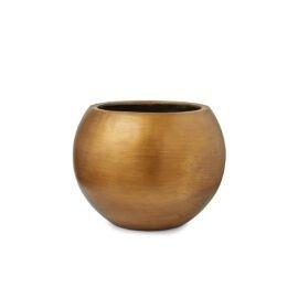 Pot sphérique or