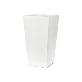 Pot conique carré blanc