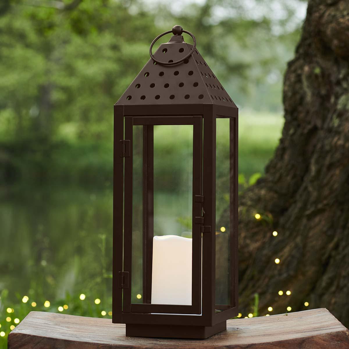 Lanterne August Marron H48 cm