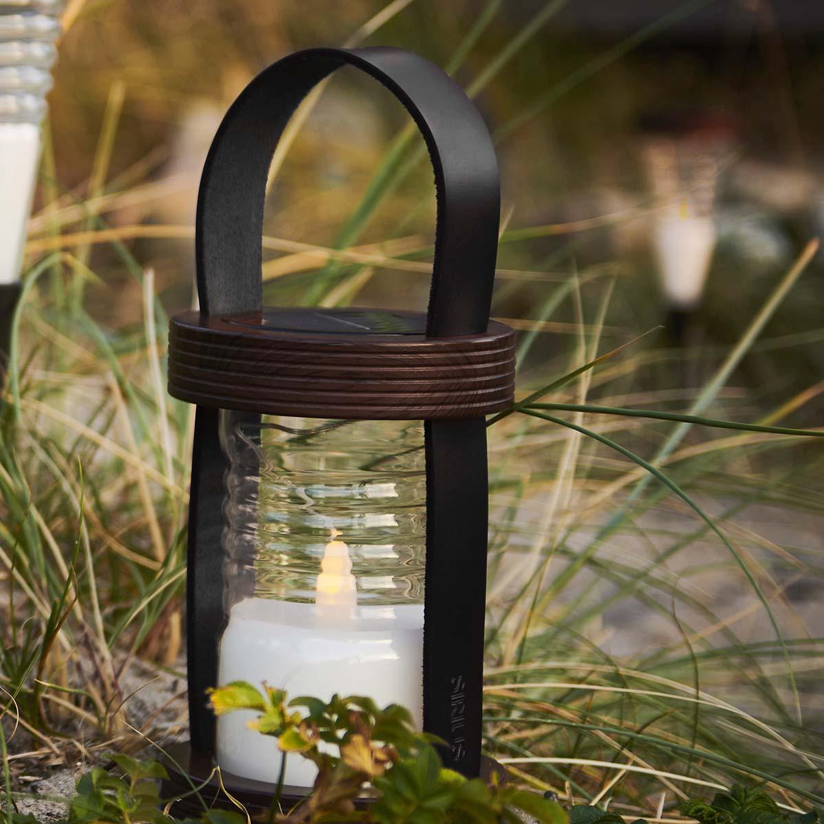 Lanterne ASTON à énergie solaire H 28.5 cm