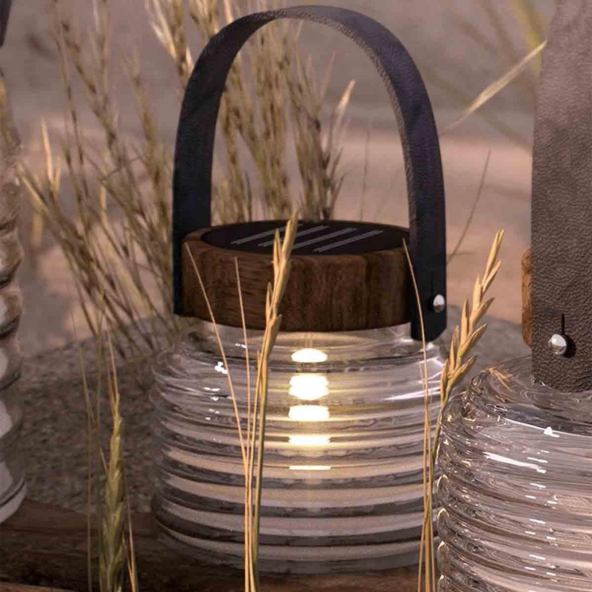 Lanterne ASTON à énergie solaire H 12 cm