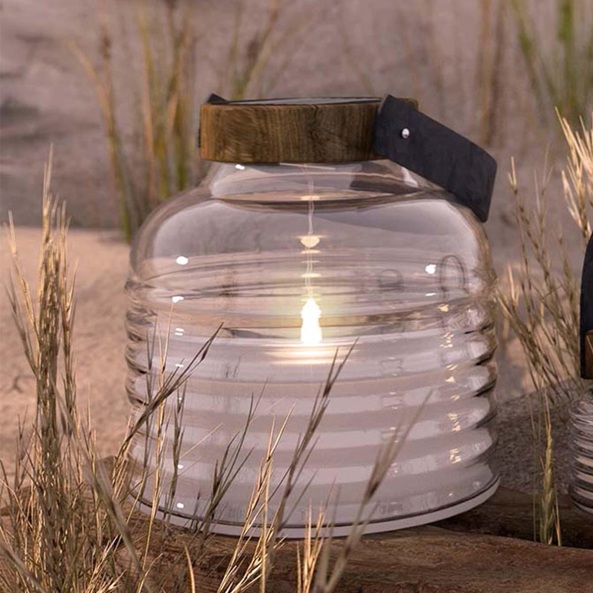Lanterne ASTON à énergie solaire H 16 cm