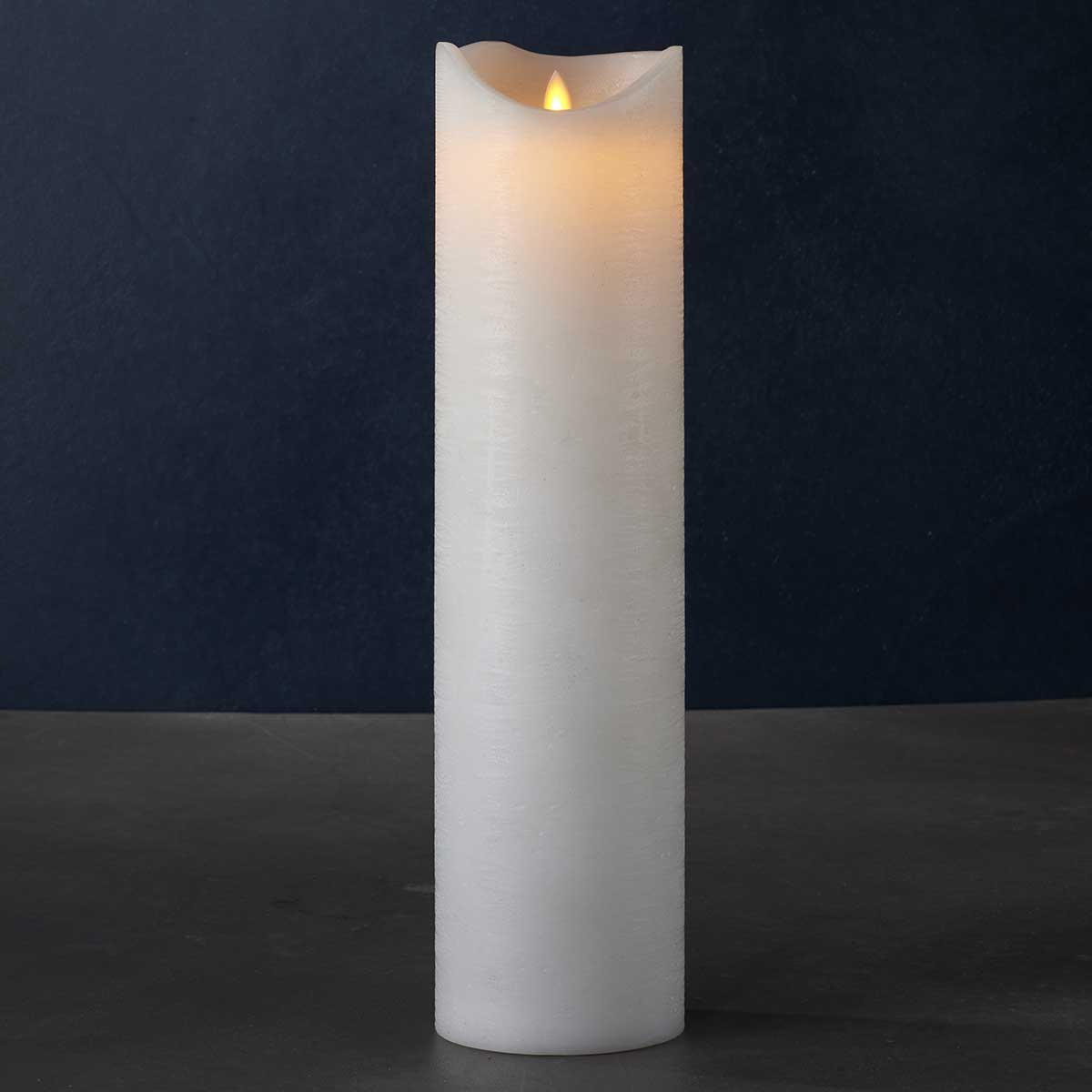Bougies LED blanche vraie cire H 40 cm * D10 cm
