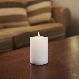 Bougie LED haut plat flamme vacillante H 10 * D 7,5 cm