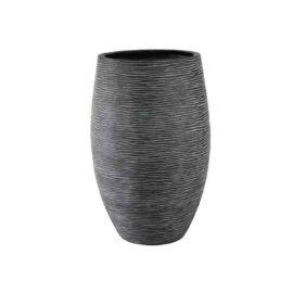 Pot elegant strié noir