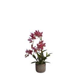 Orchidée artificielle à fleurs roses